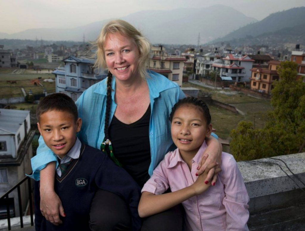 Adara Group founder and Chair, Audette Exel, in Nepal
